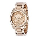 Michael Kors ladies' rose gold chronograph bracelet watch - Product number 8473498