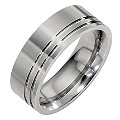 Titanium Two Groove Ring - Product number 8476853