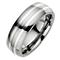 Tungsten & Silver 7mm Line Ring - Product number 8478074