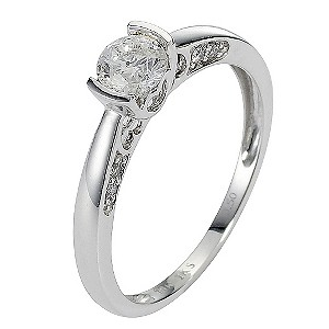 18ct White Gold Half Carat Diamond Solitaire Ring