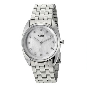 Oasis Ladies' Mother Of Pearl Stone Set Dial Bracelet Watch - Product number 8480117