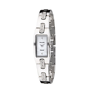 Accurist Ladies' Diamond Set White Dial Bracelet Watch - Product number 8480753