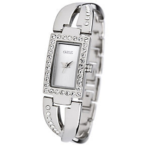 Oasis Ladies' Stone Set Cross Over Bracelet Watch - Product number 8481490