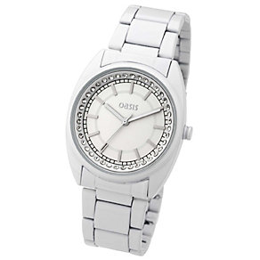 Exclusive Oasis Ladies' Stone Set Dial White Bracelet Watch - Product number 8481512