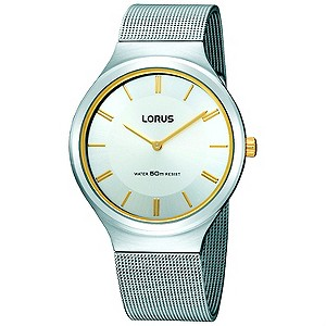 Lorus Mens Silver Dial Bracelet Watch