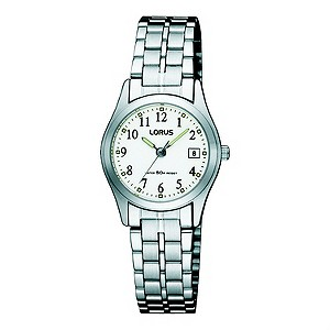 Lorus Ladies White Dial Stainless Steel Bracelet Watch