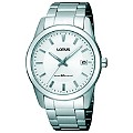 Lorus Mens White Dial Stainless Steel Bracelet Watch - Product number 8481660