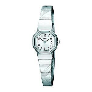 Lorus Ladies Hexagonal Dial Stainless Steel Bracelet Watch
