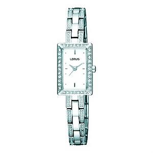 Lorus Ladies Stone Set Stainless Steel Bracelet Watch
