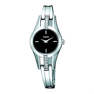 Lorus Ladies Stone Set Stainless Steel Bracelet Watch