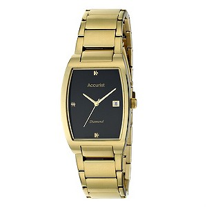 Accurist Gents Gold Plated Bracelet Watch