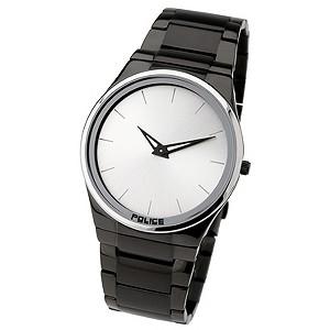 Police Silver Dial Black Bracelet Watch