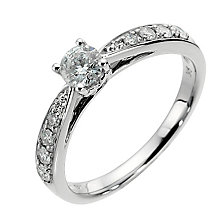 9ct white gold half carat diamond solitaire ring - Product number 8483000