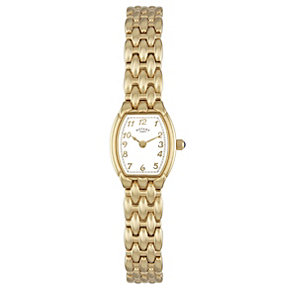 Rotary Ladies' Tonneau Dial Gold Plated Bracelet Watch - Product number 8484511