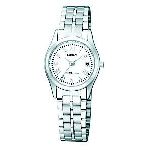 Lorus Ladies' Stainless Steel White Dial Bracelet Watch - Product number 8485038