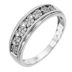 9ct white gold 1/5 carat diamond vintage ring - Product number 8485593