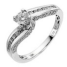 18ct white gold 3/4 carat diamond solitaire ring - Product number 8486026