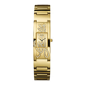 Guess Ladies' Stone Set Gold Plated Bracelet Watch - Product number 8487073