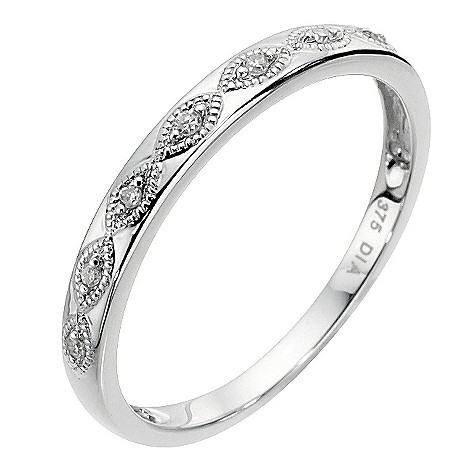 9ct white gold diamond eternity ring