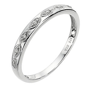 9ct white gold diamond eternity ring - Product number 8489874
