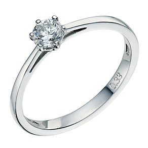 Platinum 0.33ct 6 claw diamond solitaire ring - Product number 8490880