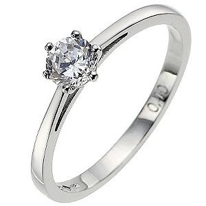 Platinum 0.40 carat diamond solitaire ring - Product number 8491011