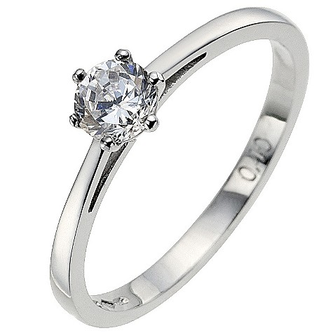 Platinum 0.40 carat diamond solitaire ring