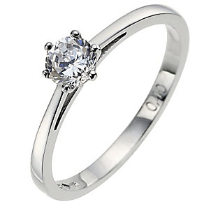 Platinum 0.40 carat diamond solitaire ring - Product number 8491011