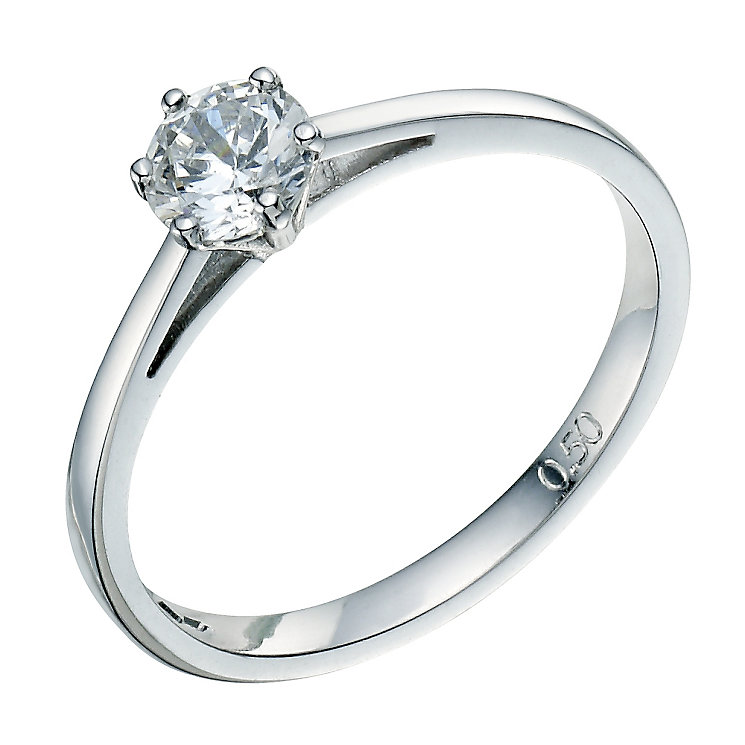 Platinum 0.50ct diamond solitaire - Product number 8491143