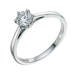 Platinum 2/3 carat solitaire diamond - Product number 8491283