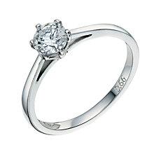 Platinum 0.66ct solitaire diamond - Product number 8491283