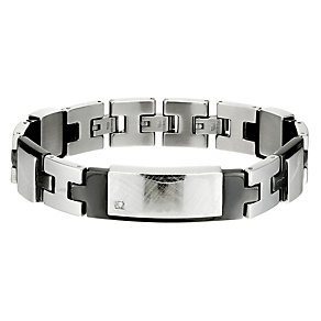 Stainless Steel & Diamond Identity Bracelet - Product number 8492700