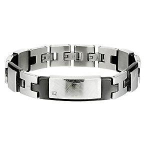 Stainless Steel & Diamond Identity Bracelet - Product number 8492700