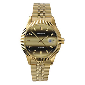 Sekonda Men's Gold-Plated Bracelet Watch - Product number 8495416