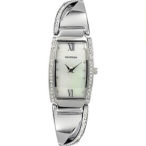 Sekonda Ladies' Stone Set Bangle Watch - Product number 8495424
