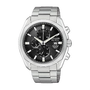 Citizen Eco Drive Men&39s Chronograph Titanium Bracelet Watch