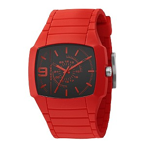 Diesel Men's Red Silicone Watch - Product number 8495645