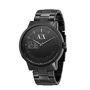 Armani Exchange Men's Black Ion Plated Bracelet Watch - Product number 8495904
