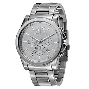 Armani Exchange Men's Silver Dial Chronograph Bracelet Watch - Product number 8496021