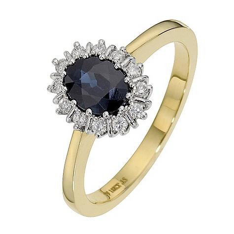 18ct yellow gold sapphire