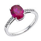 9ct white gold ruby/diamond ring - Product number 8500088