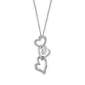 Love's Embrace diamond triple heart pendant - Product number 8500266