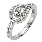 Love's Embrace 9ct white gold fifth car at diamond icon ring - Product number 8500649
