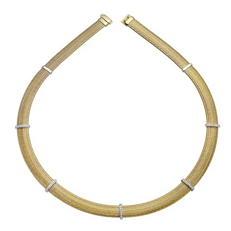 The Fifth Season 18ct gold diamond set Egiziana necklace
