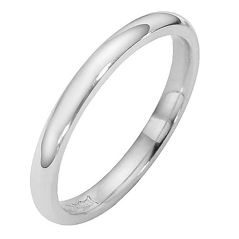 18ct white gold super heavyweight court ring 2mm