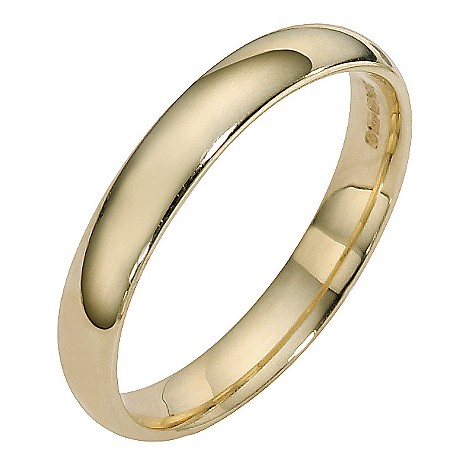 9ct yellow gold extra heavy court ring 3mm