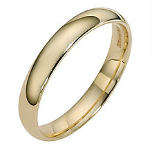 9ct yellow gold extra heavy court ring 3mm - Product number 8503354