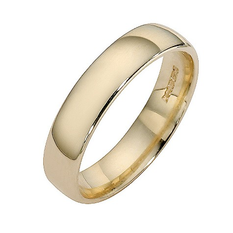 9ct yellow gold extra heavy court ring 4mm