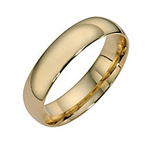 9ct yellow gold extra heavy court ring 5mm - Product number 8504857