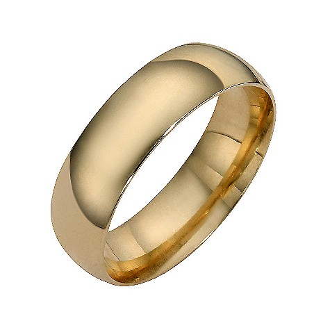 9ct yellow gold extra heavy court ring 6mm